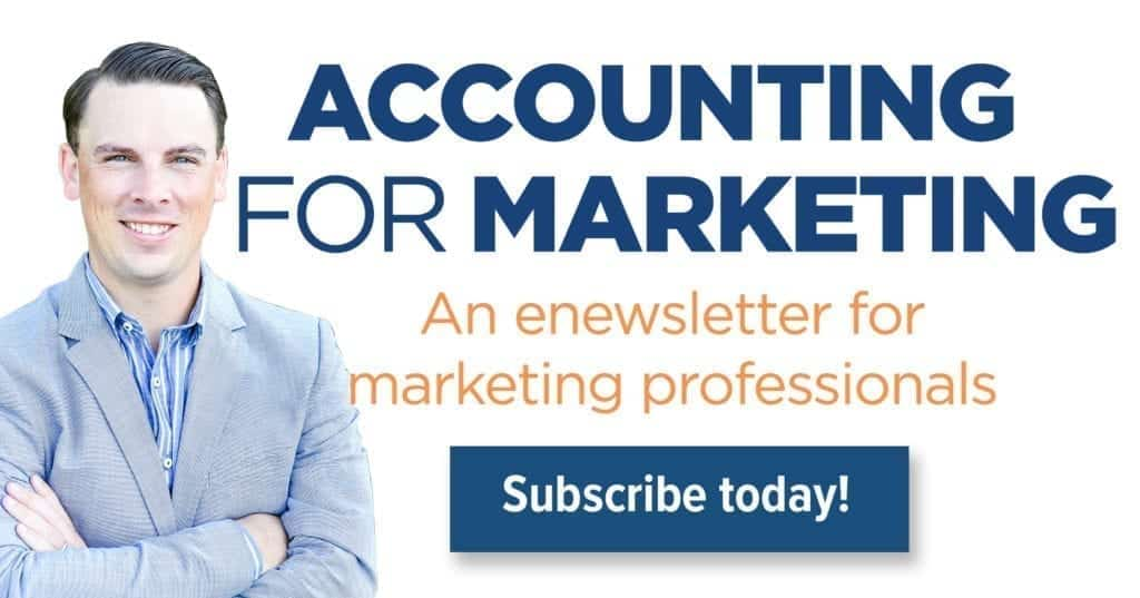 Accounting For Marketing Enewsletter Sign Up